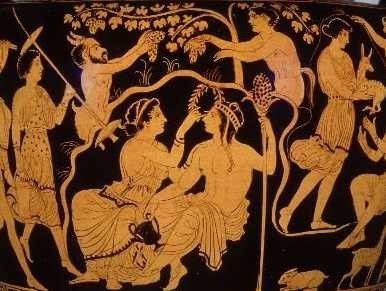Ancient orgy art situation